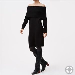 NWT Loft Off Shoulder Sweater Dress